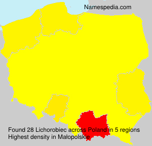 Surname Lichorobiec in Poland