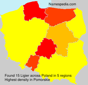 Surname Ligier in Poland