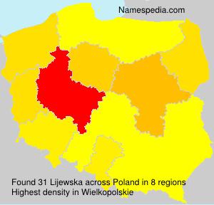 Familiennamen Lijewska - Poland