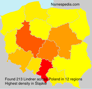 Surname Lindner in Poland