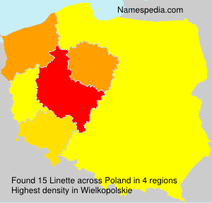 Surname Linette in Poland