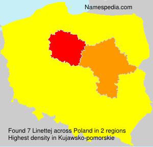 Surname Linettej in Poland