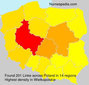 Surname Linke in Poland