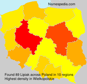 Surname Lipiak in Poland