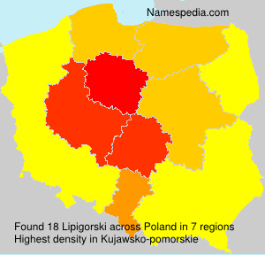 Surname Lipigorski in Poland