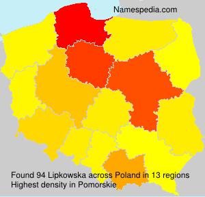 Surname Lipkowska in Poland