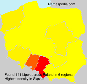 Surname Lipok in Poland
