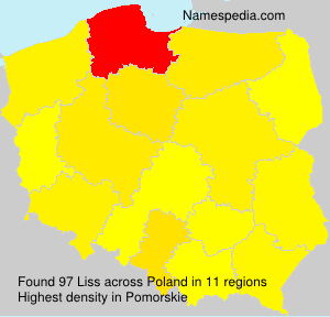 Surname Liss in Poland