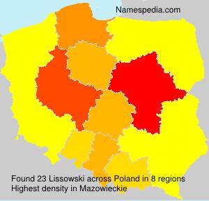 Surname Lissowski in Poland