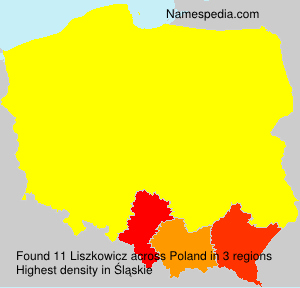 Surname Liszkowicz in Poland