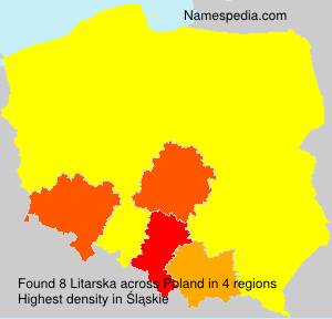 Surname Litarska in Poland
