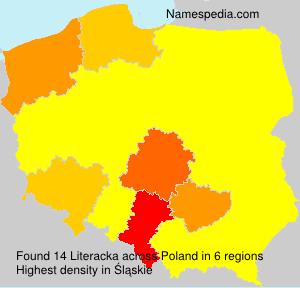 Surname Literacka in Poland