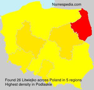 Surname Litwiejko in Poland