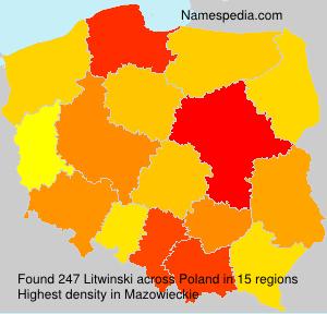 Surname Litwinski in Poland