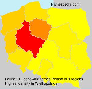 Surname Lochowicz in Poland