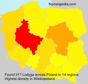 Surname Lodyga in Poland