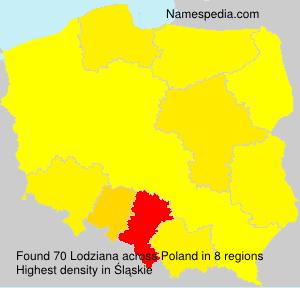 Surname Lodziana in Poland