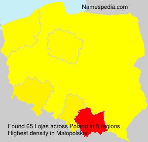 Surname Lojas in Poland