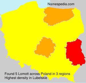 Familiennamen Lomott - Poland