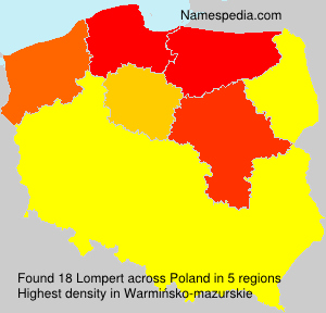 Surname Lompert in Poland