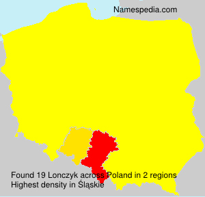 Surname Lonczyk in Poland