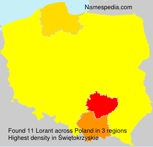 Surname Lorant in Poland