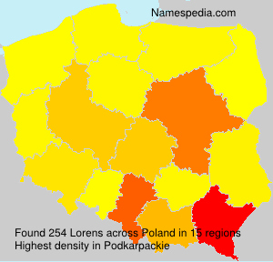 Surname Lorens in Poland