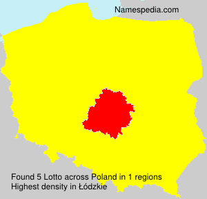 Surname Lotto in Poland