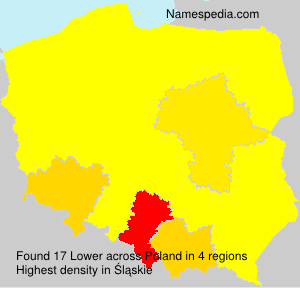 Surname Lower in Poland