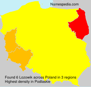 Surname Lozowik in Poland