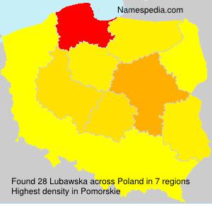 Surname Lubawska in Poland