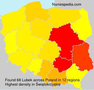 Surname Lubek in Poland