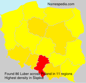 Familiennamen Luber - Poland