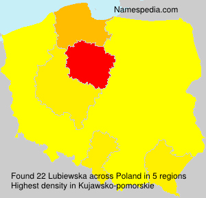 Familiennamen Lubiewska - Poland