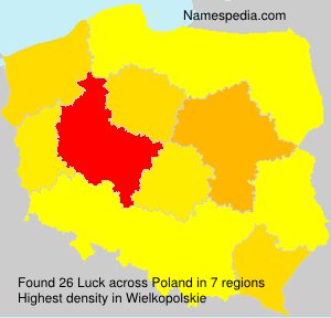 Surname Luck in Poland