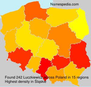 Surname Luczkiewicz in Poland
