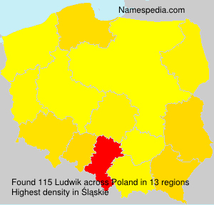 Surname Ludwik in Poland