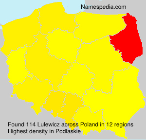 Surname Lulewicz in Poland