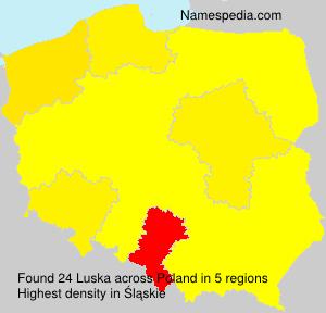 Surname Luska in Poland
