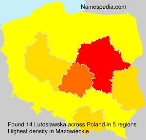 Surname Lutoslawska in Poland