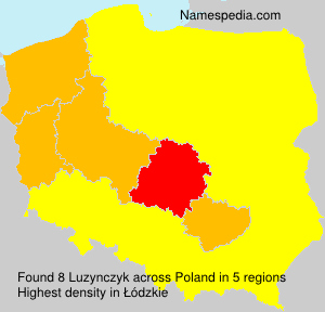 Familiennamen Luzynczyk - Poland