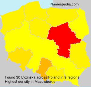 Surname Lyzinska in Poland