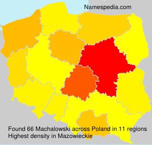 Surname Machalowski in Poland