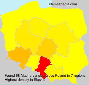 Familiennamen Macherzynski - Poland