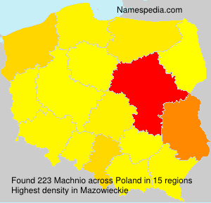 Surname Machnio in Poland