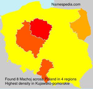 Surname Machoj in Poland