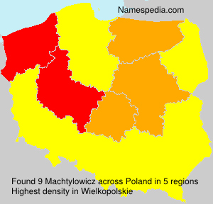 Surname Machtylowicz in Poland