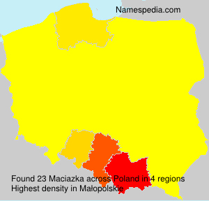 Surname Maciazka in Poland