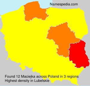 Surname Maciejka in Poland