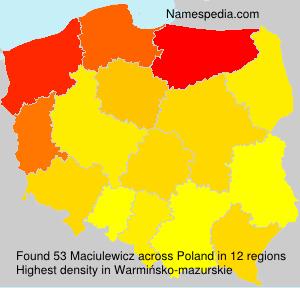 Surname Maciulewicz in Poland